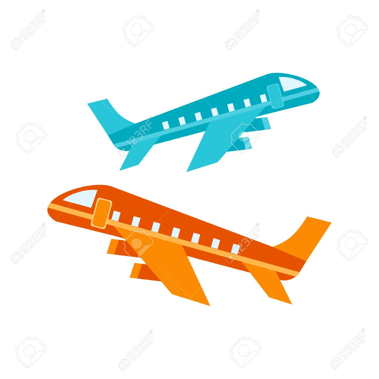 Multiple Flights Icon Stock Vector