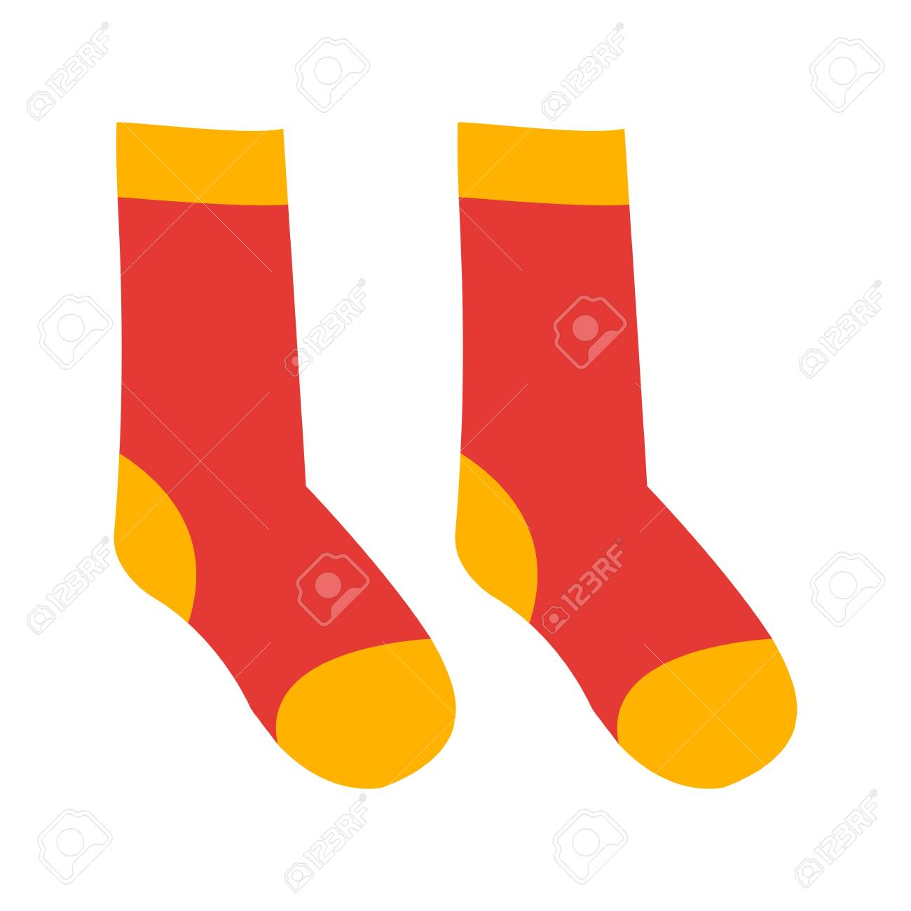 Wool socks vector illustration - 94440783