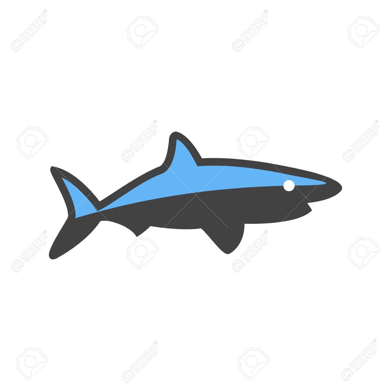 A Shark Vector illustration isolated on plain background.