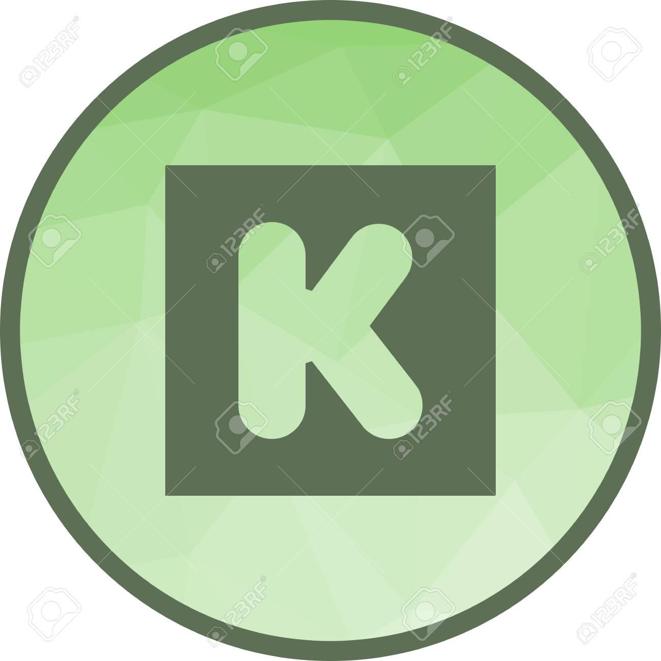 Kickstarter, crowdfunding, platform icon vector image  Can also
