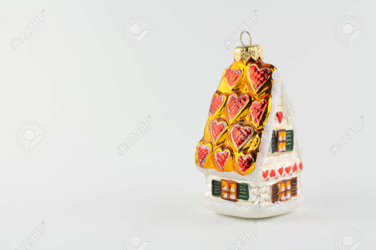 a toy house for the tree on a white background - 159659464