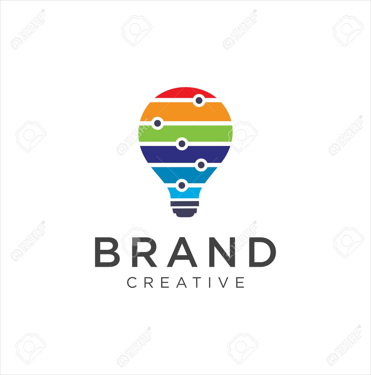 Bulb Logo Design Colorfull Idea Creative Light Bulb Logo Royalty Free Cliparts Vectors And Stock Illustration Image 148837621
