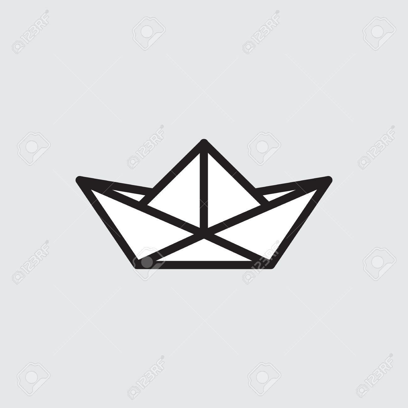 Origami Boat Stock Vector