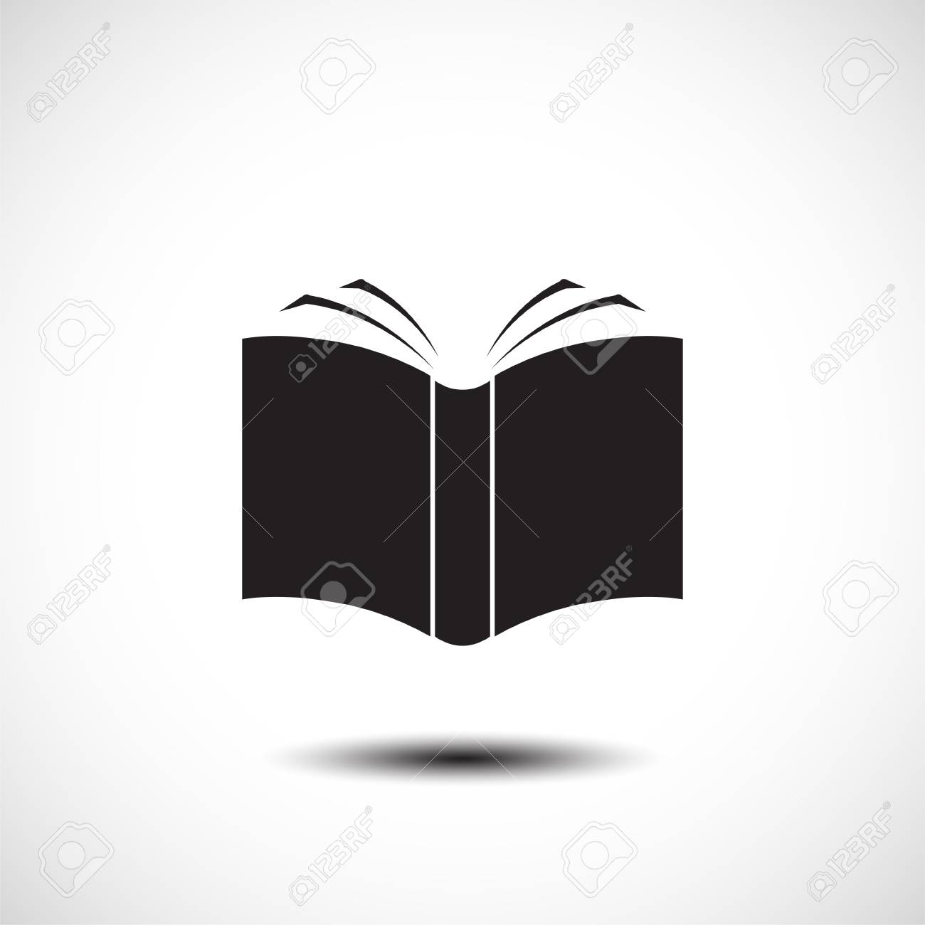 Open Book Icon Vector Illustration