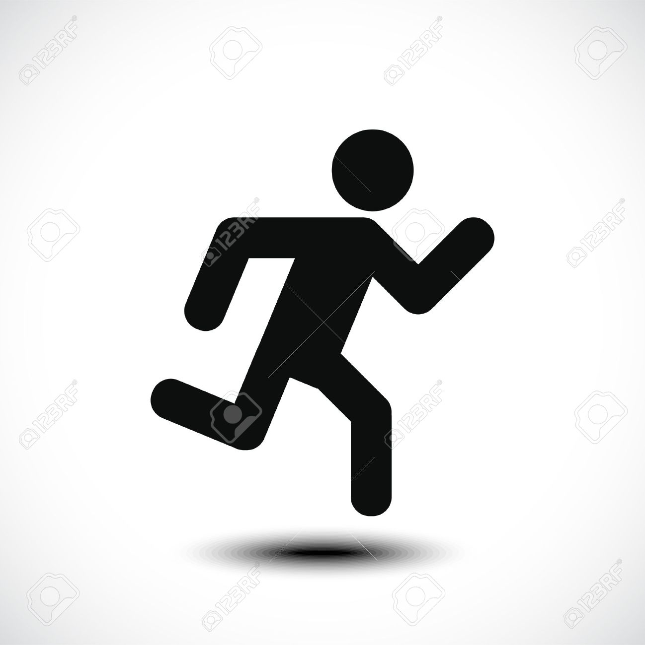 Running Man Icon Vector Illustration Royalty Free Cliparts Vectors