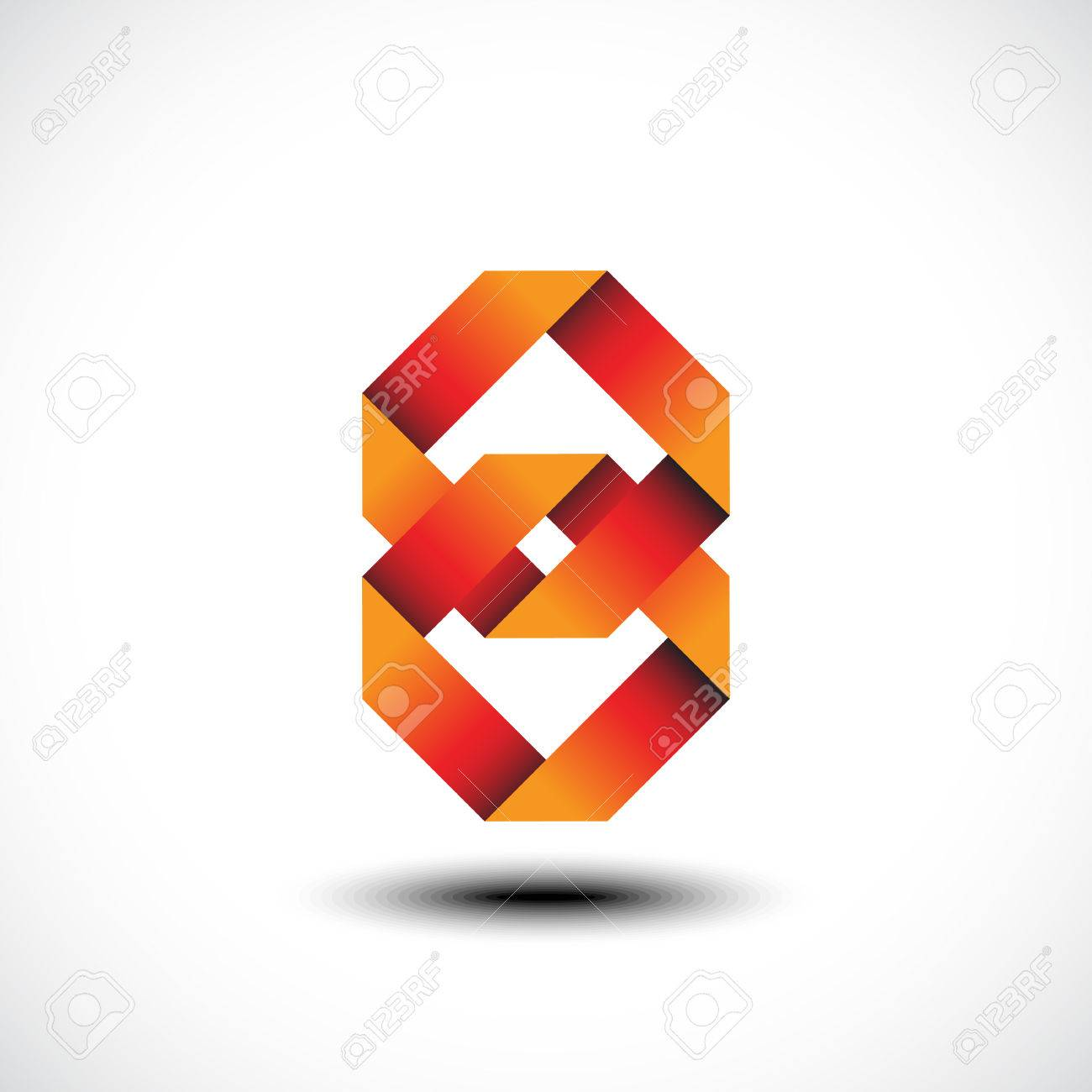 Abstract Unity Symbol Of Two Square Link Icon Vector Illustration