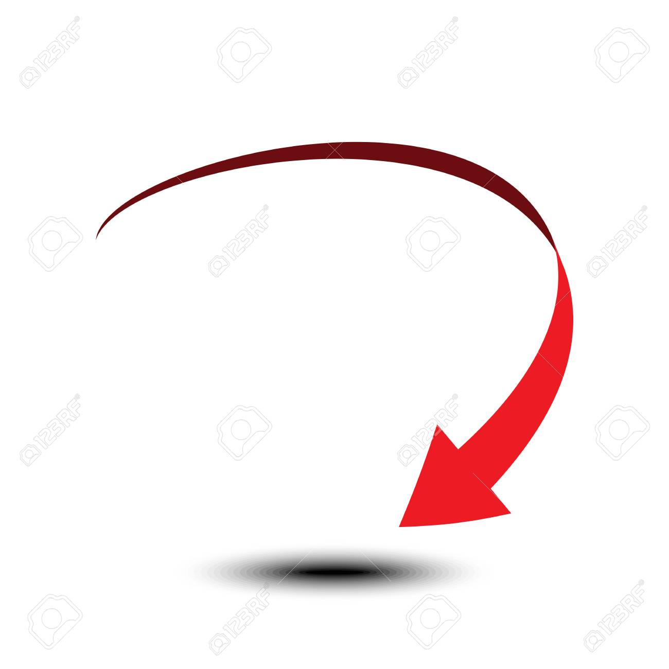 Curved Arrow Icon Isolated On White Background Vector Illustration