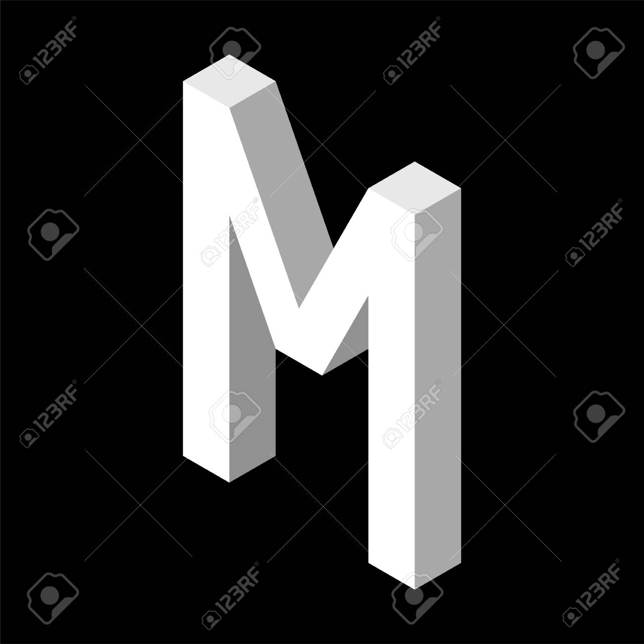 3d letter template  Stock Photo