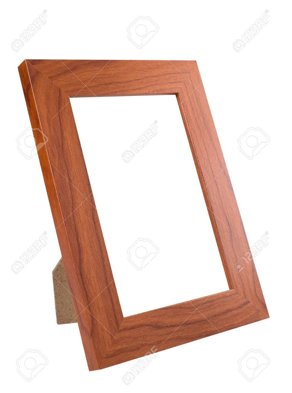 Wooden Desktop Picture (Foto) Rahmen Isoliert Auf Weißem Hintergrund ...