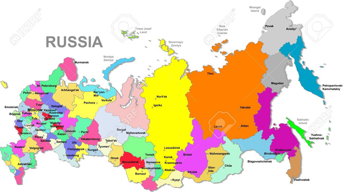 Russian Federation Map Royalty Free Cliparts Vectors And Stock