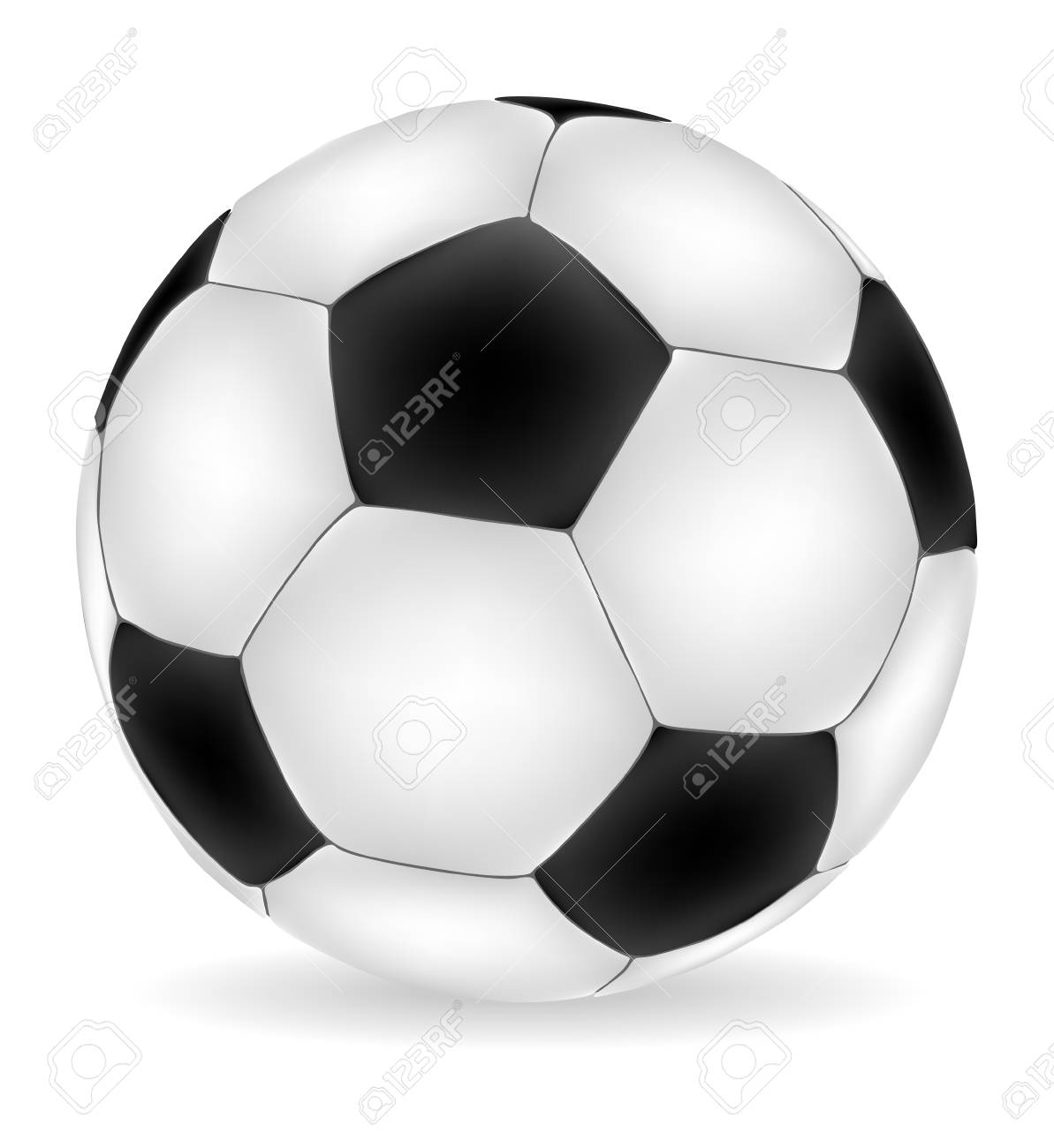 football isolated over white Stock Vector - 8242949