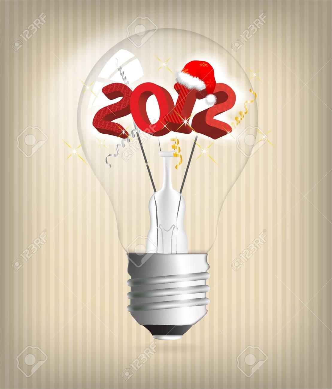2012 year holiday illustration Stock Vector - 11511685