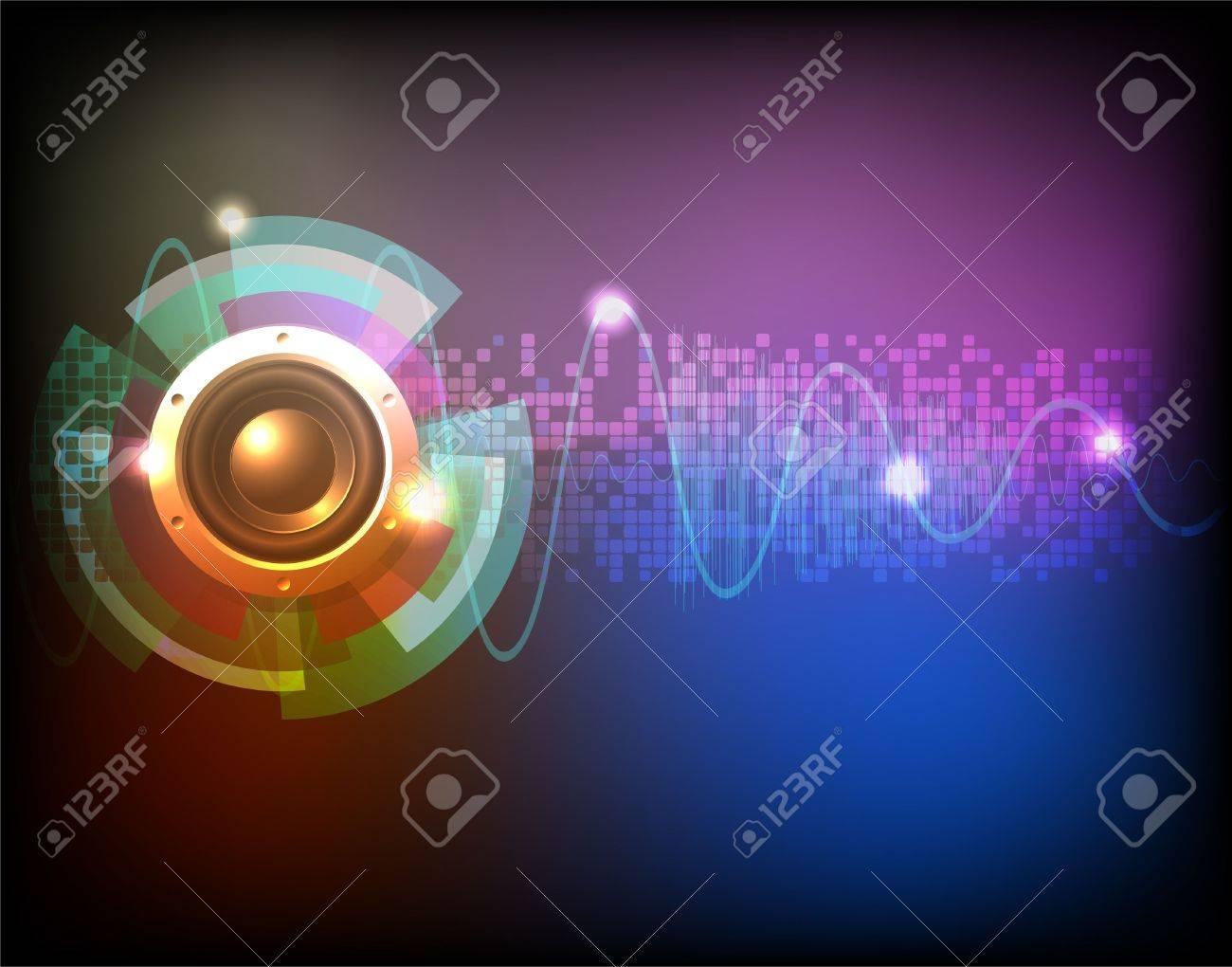 Neon music background vector - 12927309