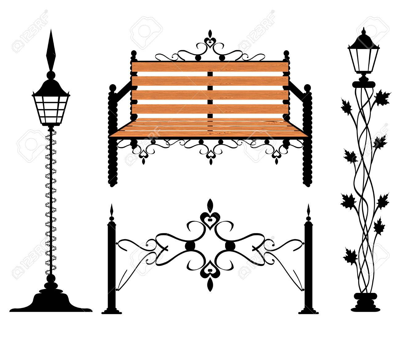 Wrought iron vintage signs and decor elements Stock Vector - 12927284