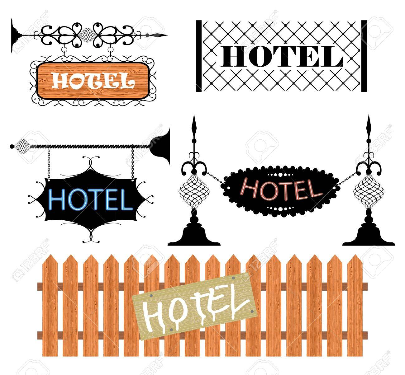 Wrought iron vintage signs and decor elements Stock Vector - 12927299