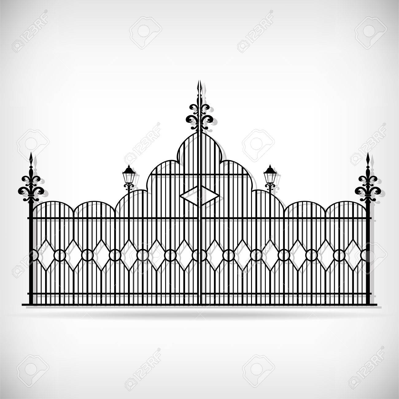 Wrought iron vector set Stock Vector - 16220954