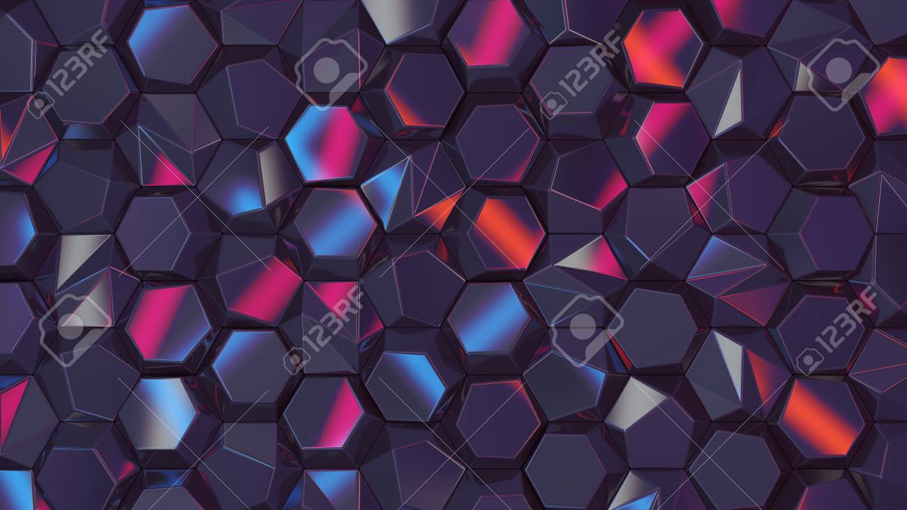 Brilliant Colored Abstract Hexagons Blank Backdrop Cyber Style 3D Rendering Download Free Architecture Designs Scobabritishbridgeorg