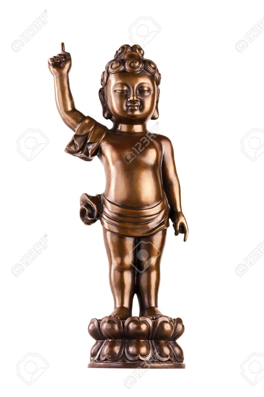 Young prince siddhartha gautama on a lotus flower the figure stock photo young prince siddhartha gautama on a lotus flower the figure made of metal isolated on a white background izmirmasajfo