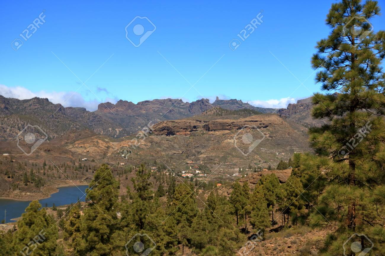 Emblematic Roque Nublo, symbolic natural monument of Gran canaria,
