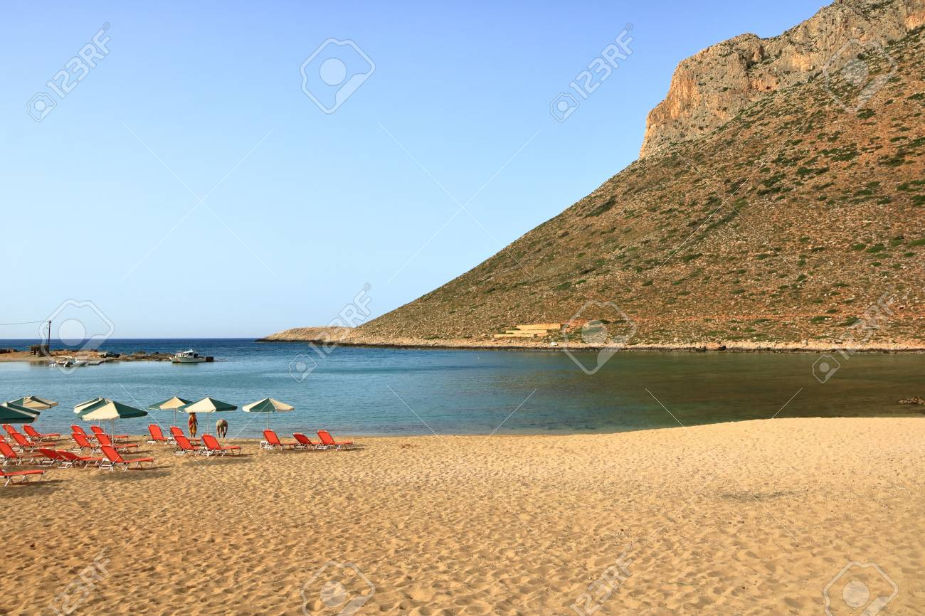 Stavros Crete Island Greece May 27 2019 Photo From The