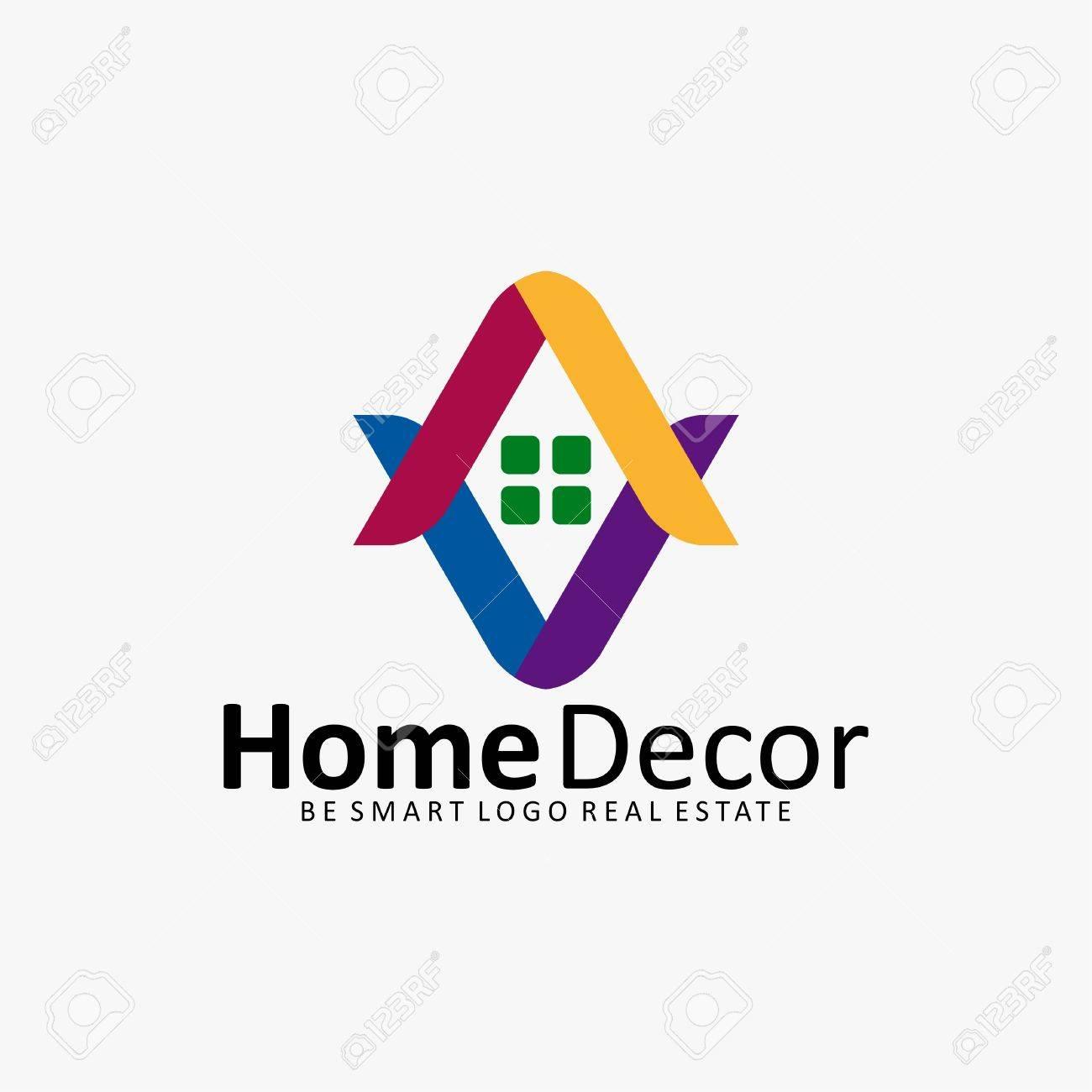 Home Decor House Real Estate Icon Logo Royalty Free Cliparts