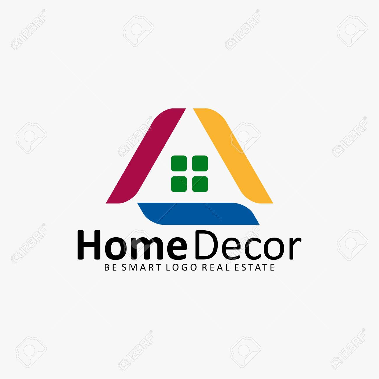 Home Decor House Real Estate Icon Logo Royalty Free Cliparts