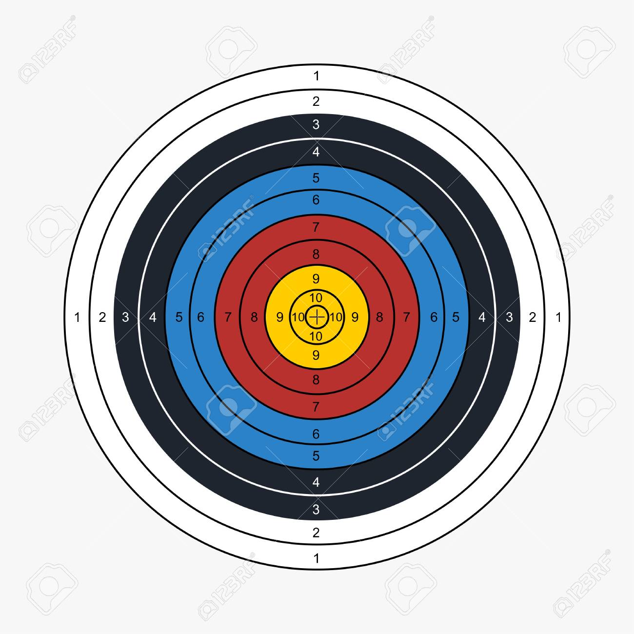 picture relating to Printable Archery Targets referred to as Archery focus printable vector case in point