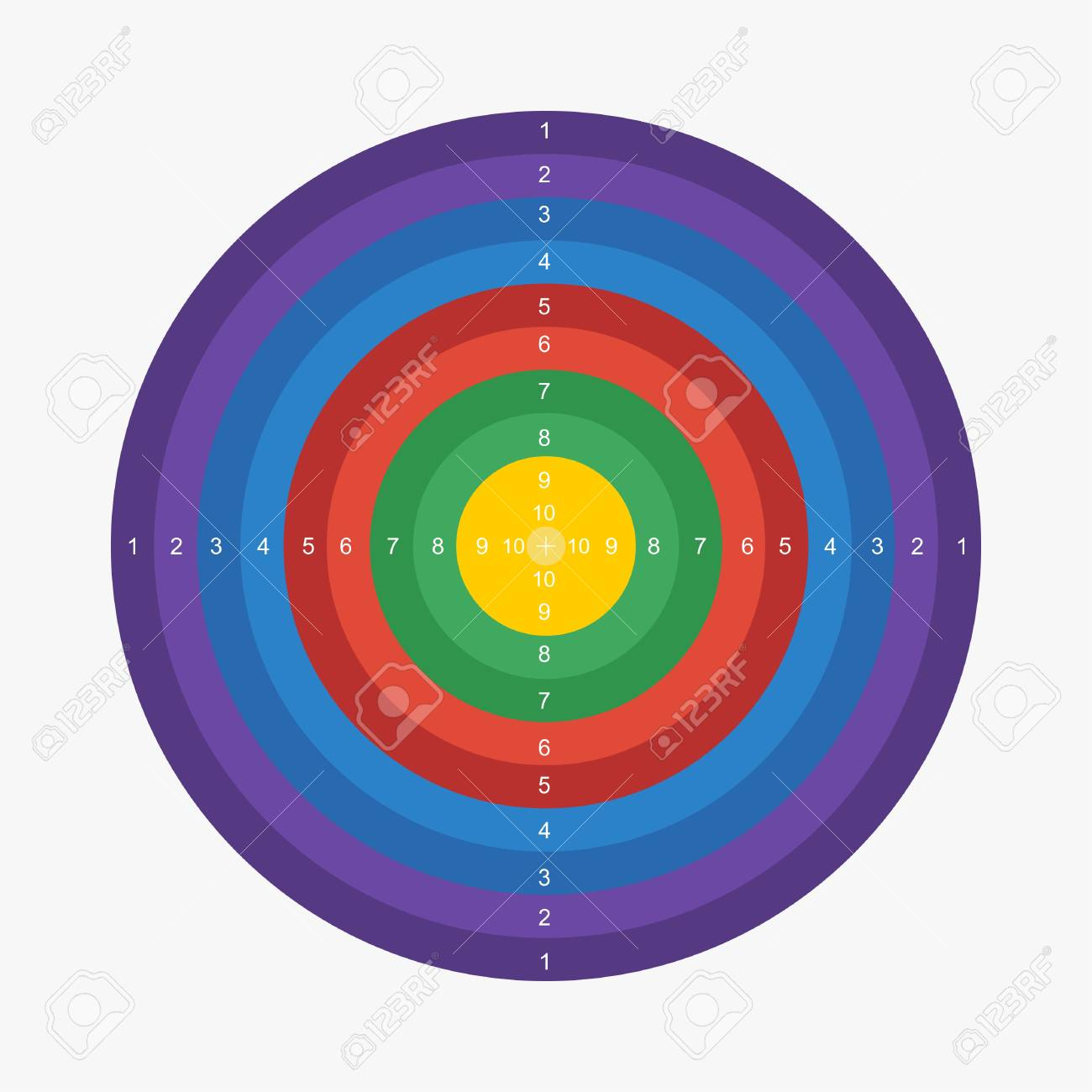 photograph regarding Printable Archery Targets identified as Archery focus printable vector case in point
