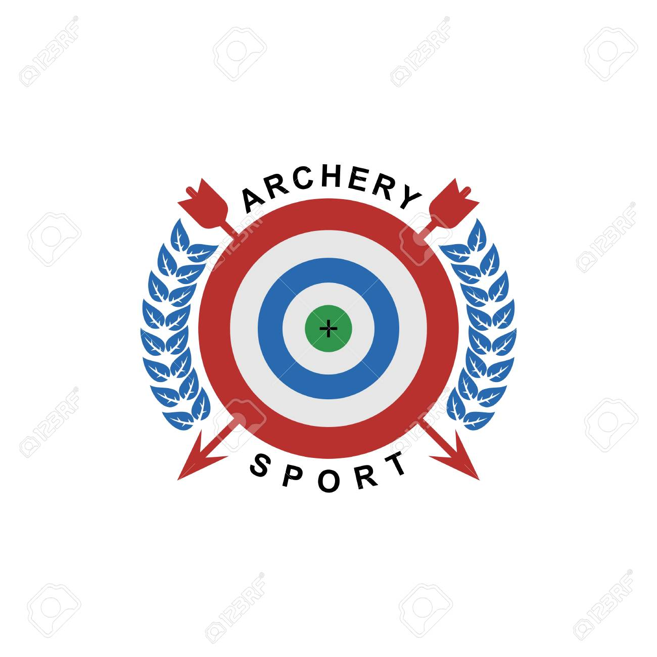 Archery logo template isolated on white background