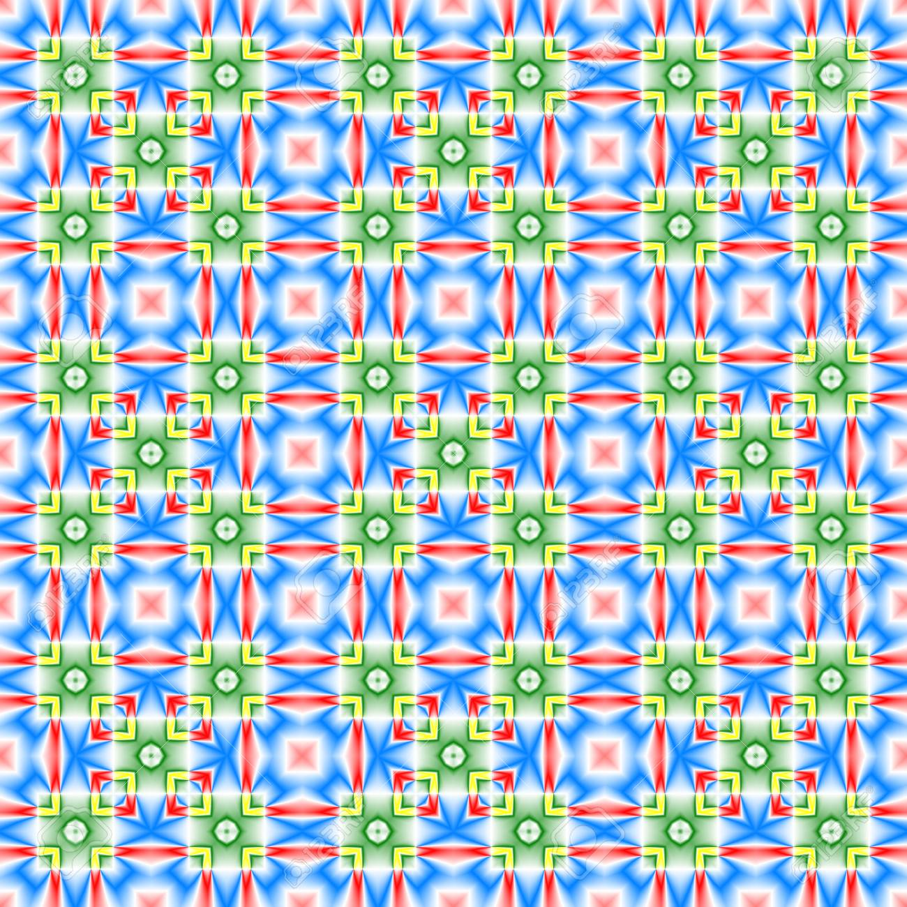 Abstract Colorful Tile Pattern. Multicolor Checked Texture ...