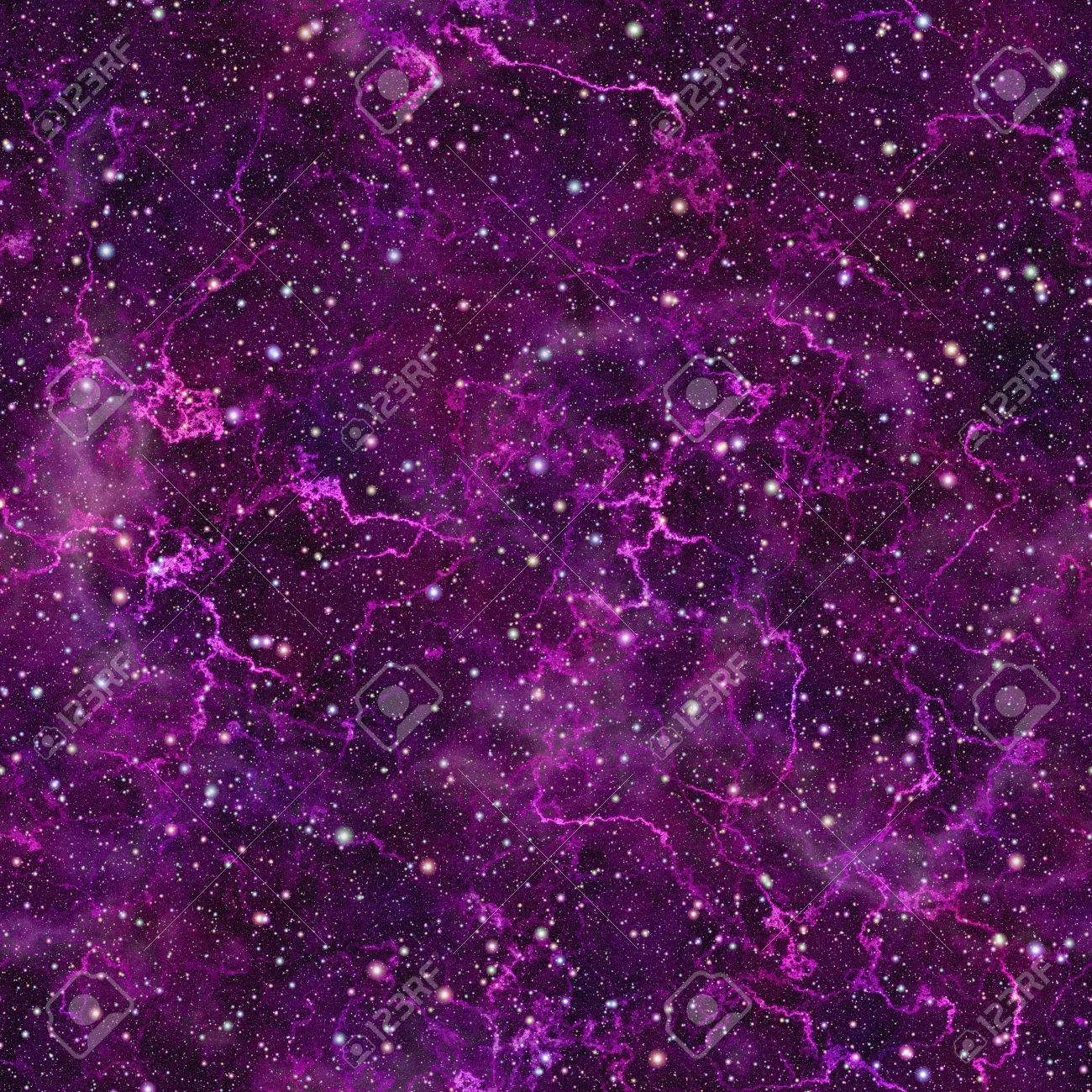 abstract violet universe. shiny nebula night starry sky. purple