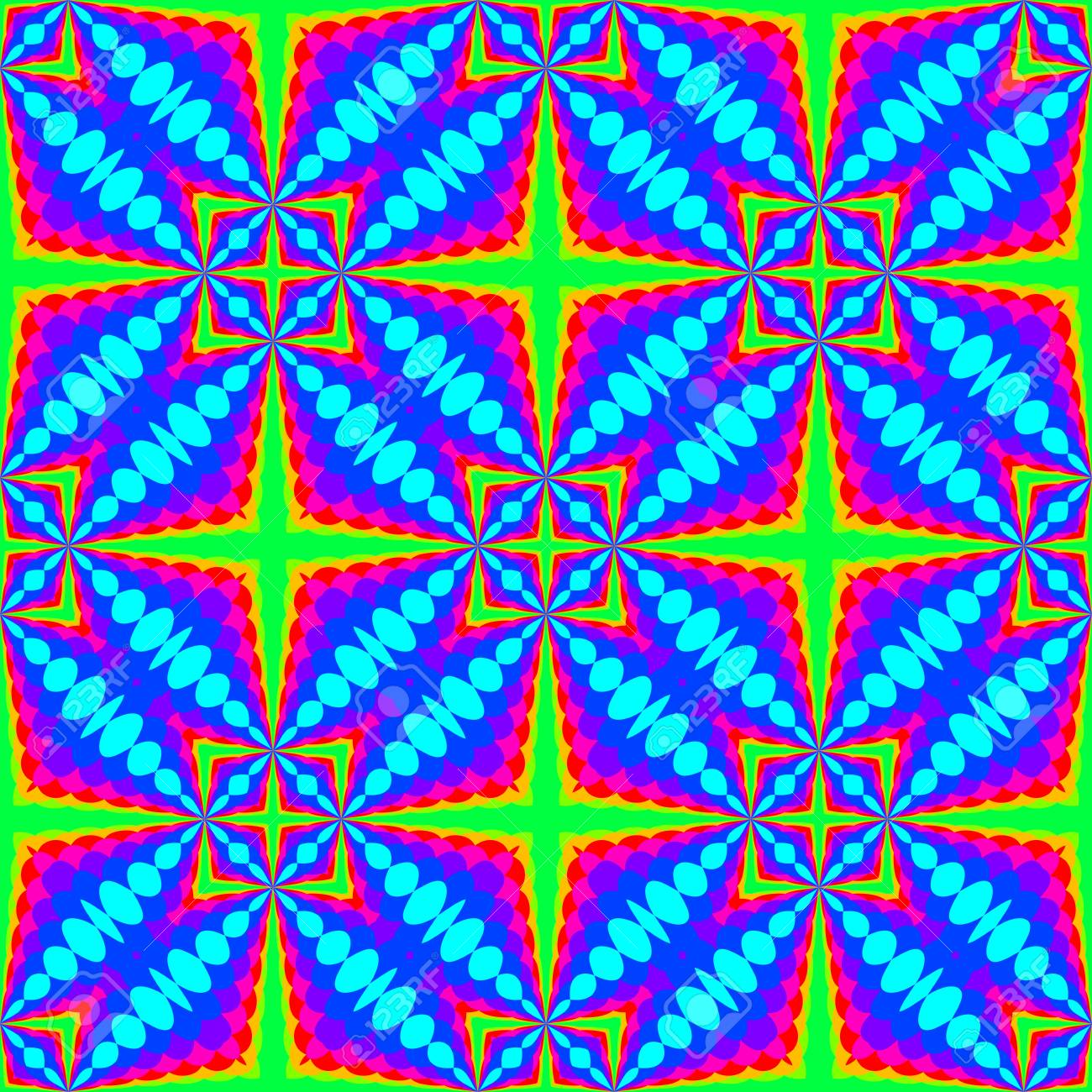 Abstract Colorful Tile Pattern, Multicolor Tiled Texture Background ...
