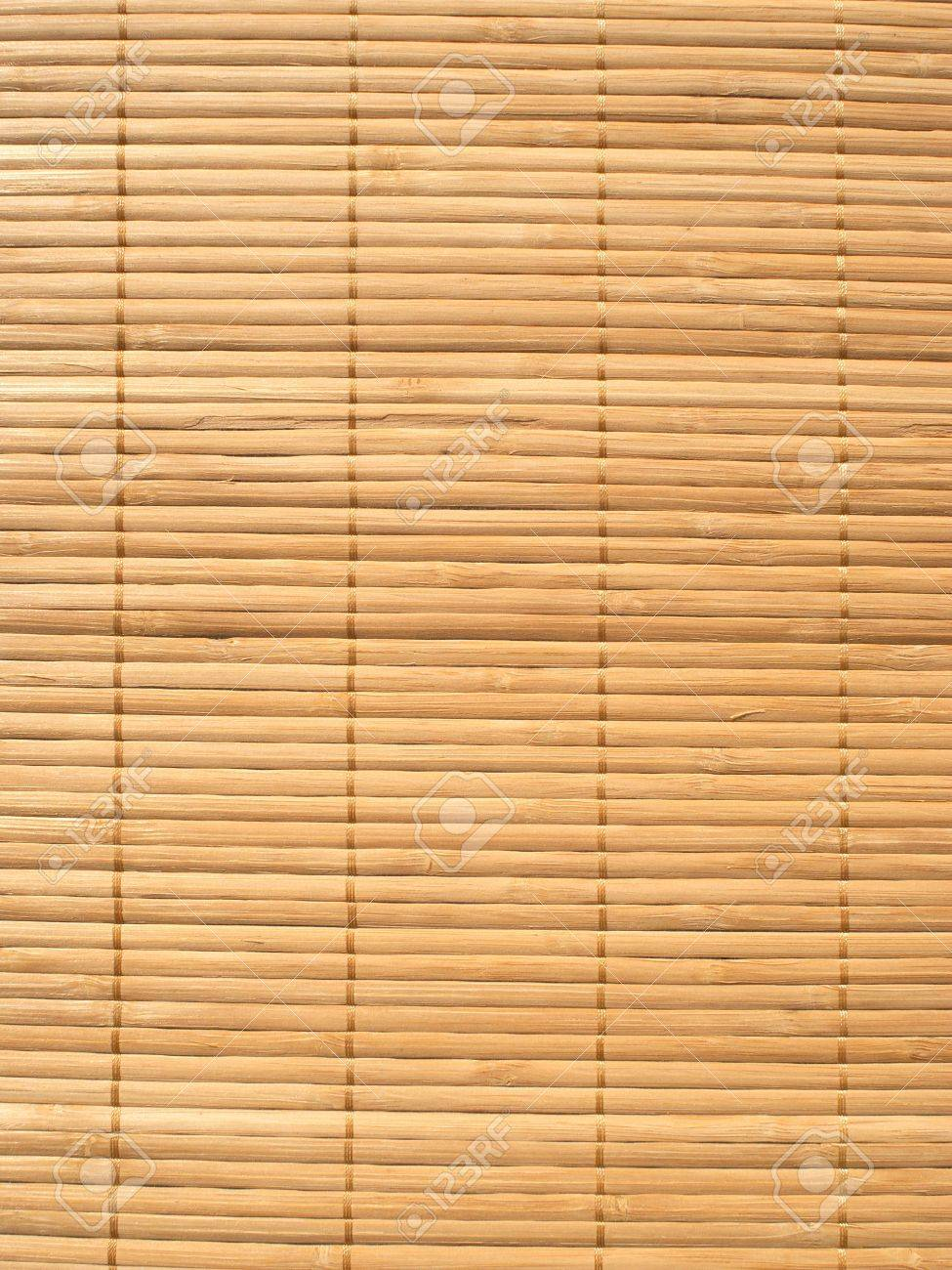 Brown straw mat background vertical view closeup Stock Photo - 16109027