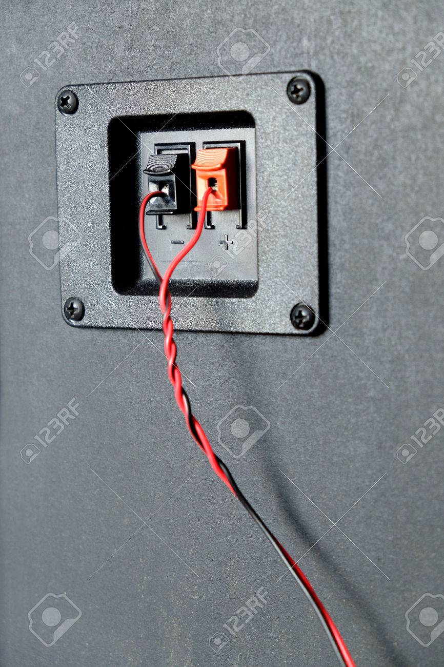 Red And Black Twisted Wire Connected To Cable Connection Socket ...