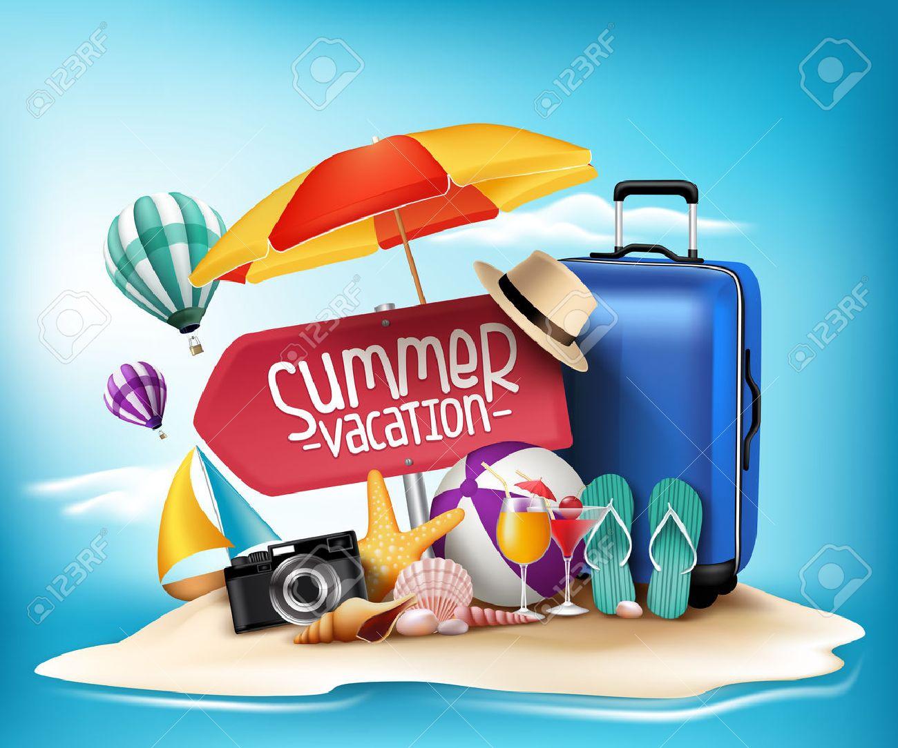Diseño 3d Realista Vacaciones Verano Impresiones De Viaje En Una