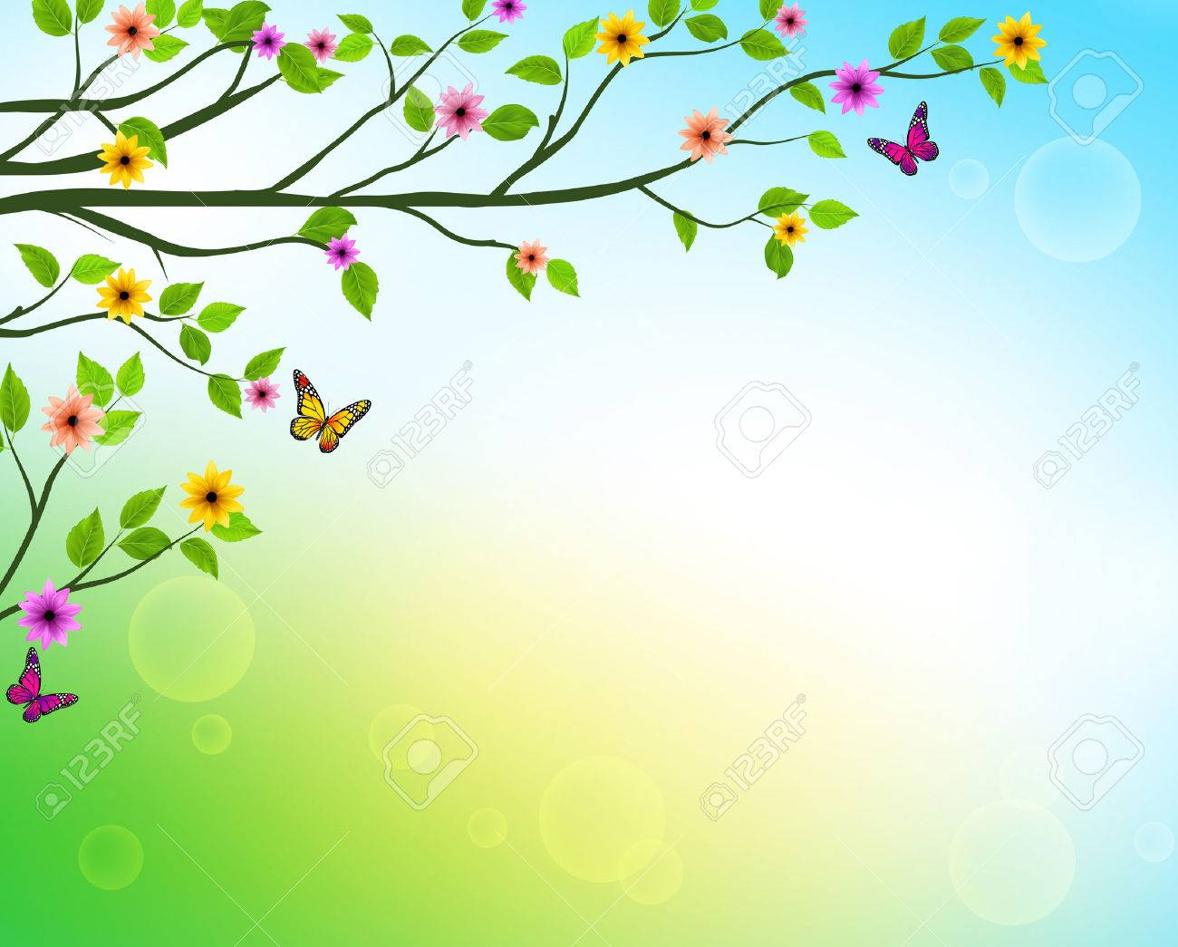 vector spring background of tree branches with growing leaves rh 123rf com vector<string> vector print