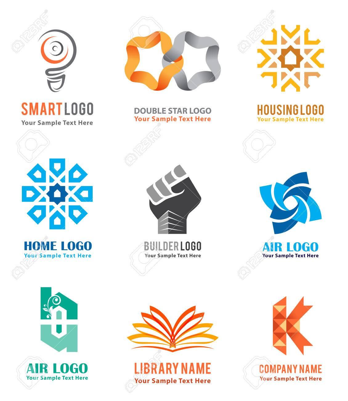 Exceptionnel Les Icônes De Logo Sont Définies Pour La Marque D'identité De L  JH69