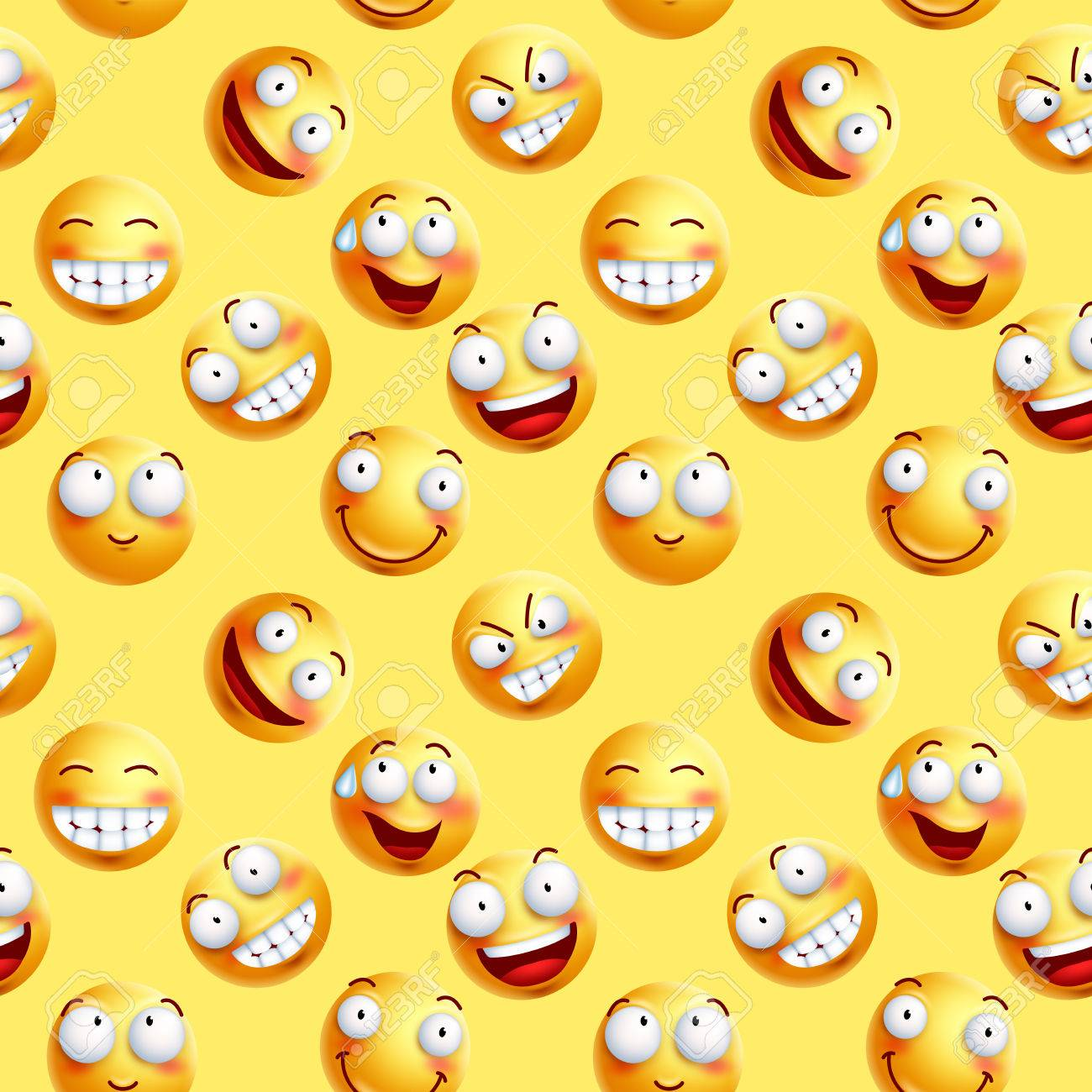 Fond D Écran Smiley vector smileys wallpaper continuous pattern with seamless facial