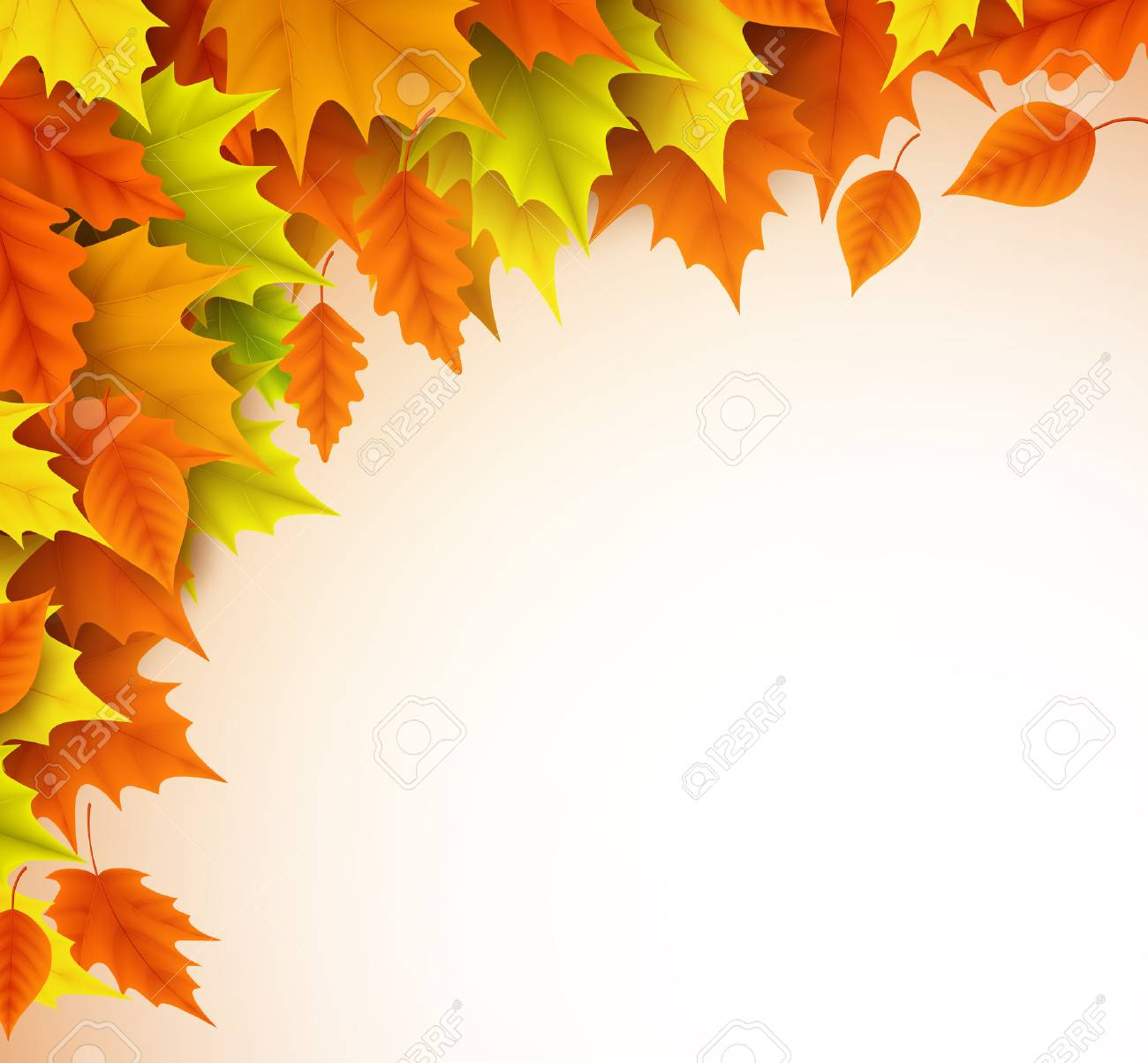 autumn vector background template fall season maple leaves elements