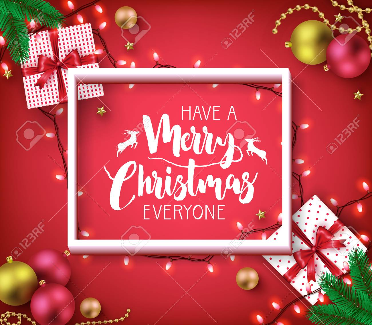 Merry Christmas Everyone.Have A Merry Christmas Everyone Greeting Typography Poster Inside