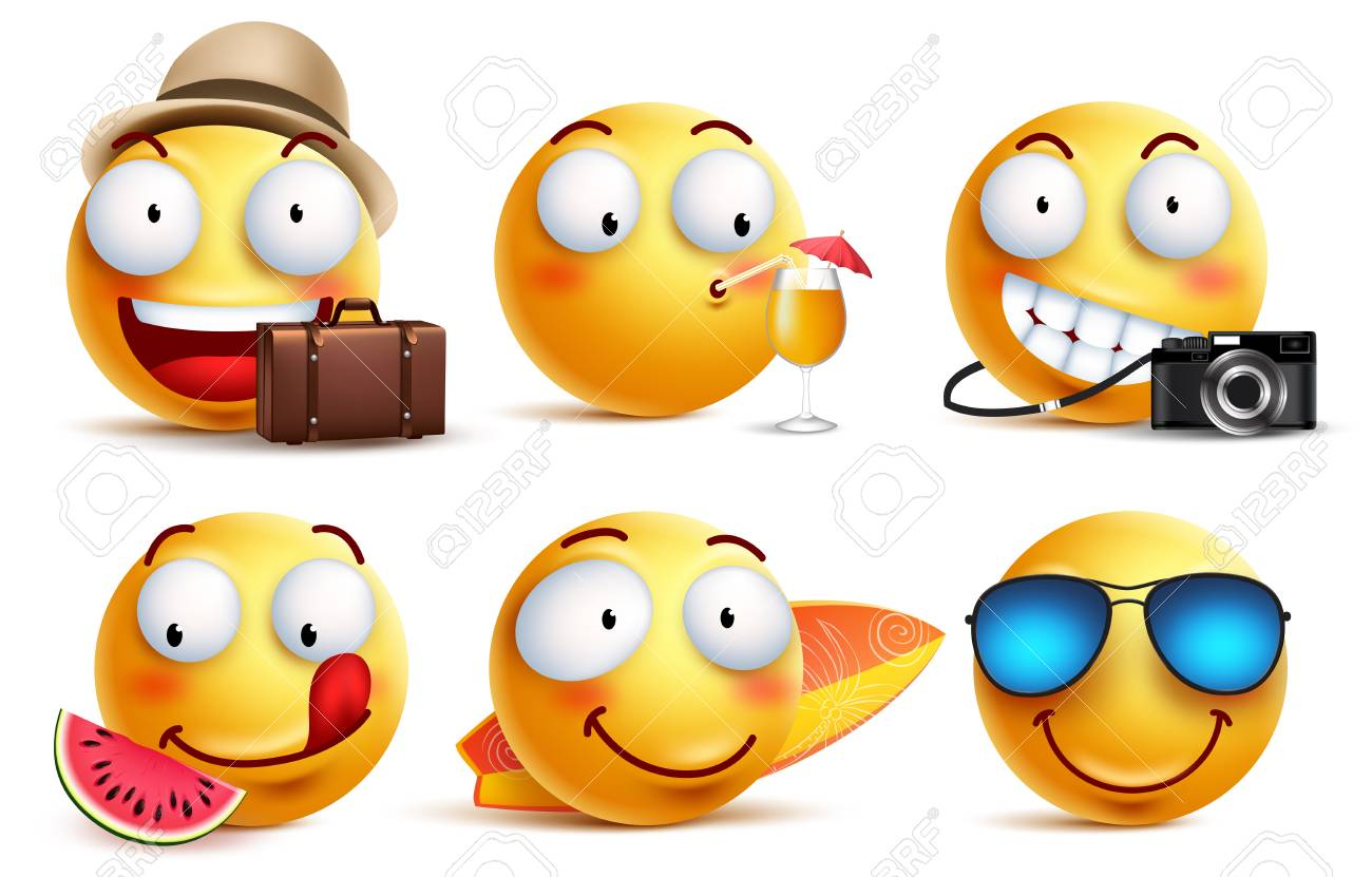 Vacation Emoticons