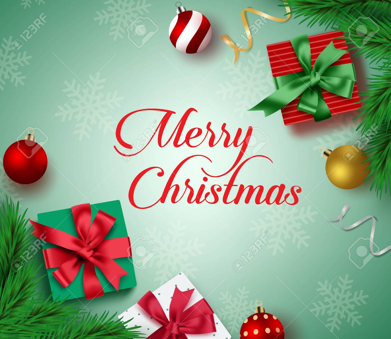 Christmas Greeting Card Vector Background Merry Christmas Typography Royalty Free Cliparts Vectors And Stock Illustration Image 131605748