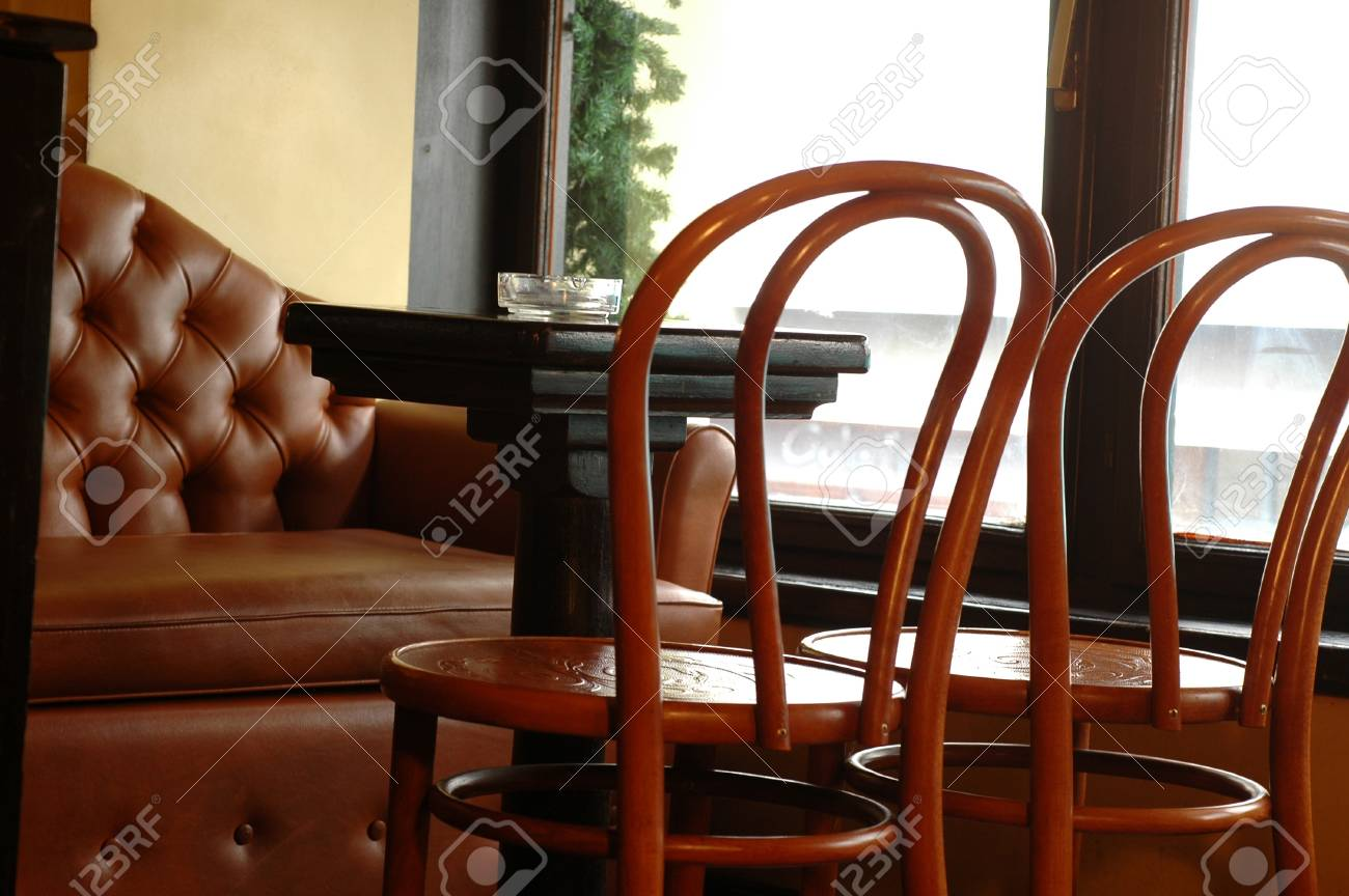 interior of bar with cafeteria chairs Stock Photo - 12190709