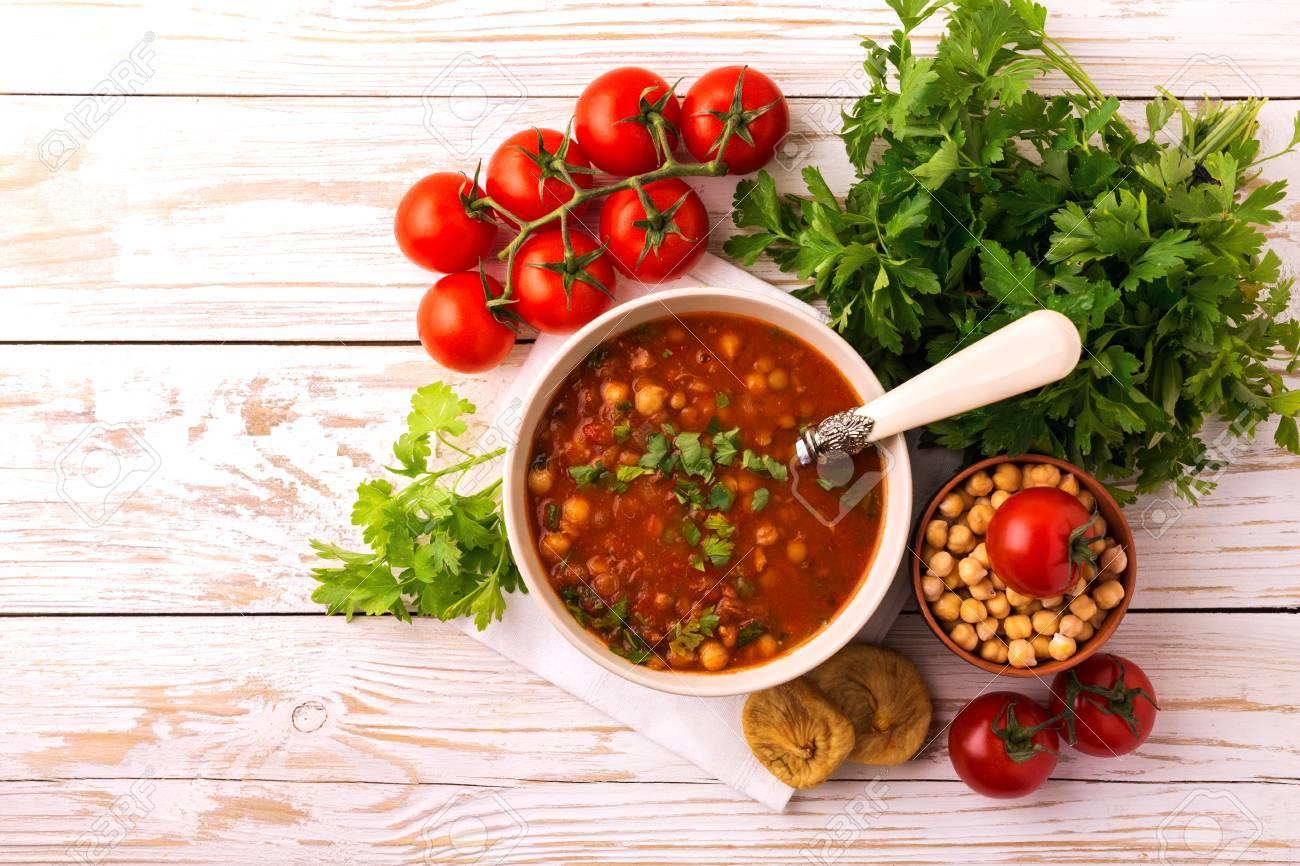 Maghreb Traditionnel Soupe De Tomate Marocaine Et Algérienne Harira