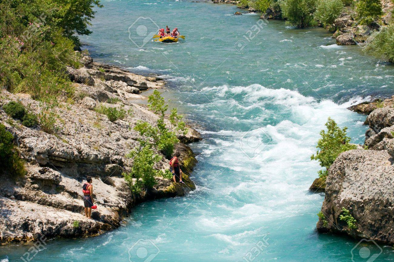 rafting in the green canyon, Alanya, Turkey Stock Photo - 16102758