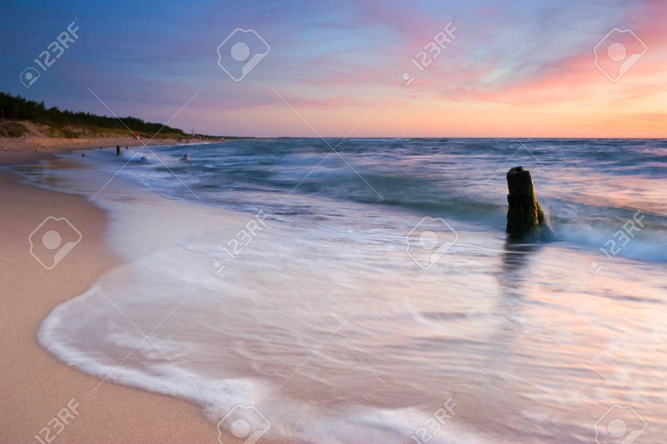 sunset on the beach Stock Photo - 16624212