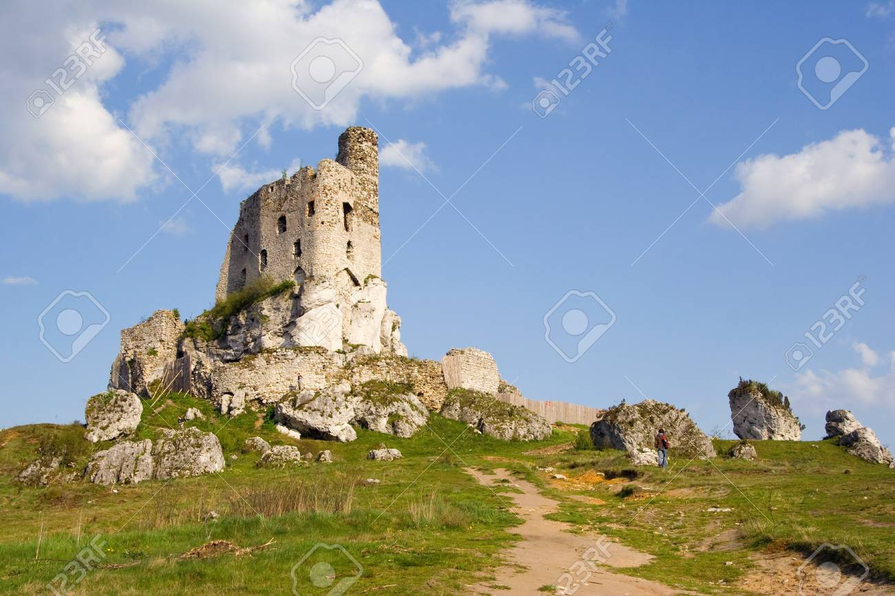 Ruins of medieval castle Mirow in Poland Stock Photo - 16838032