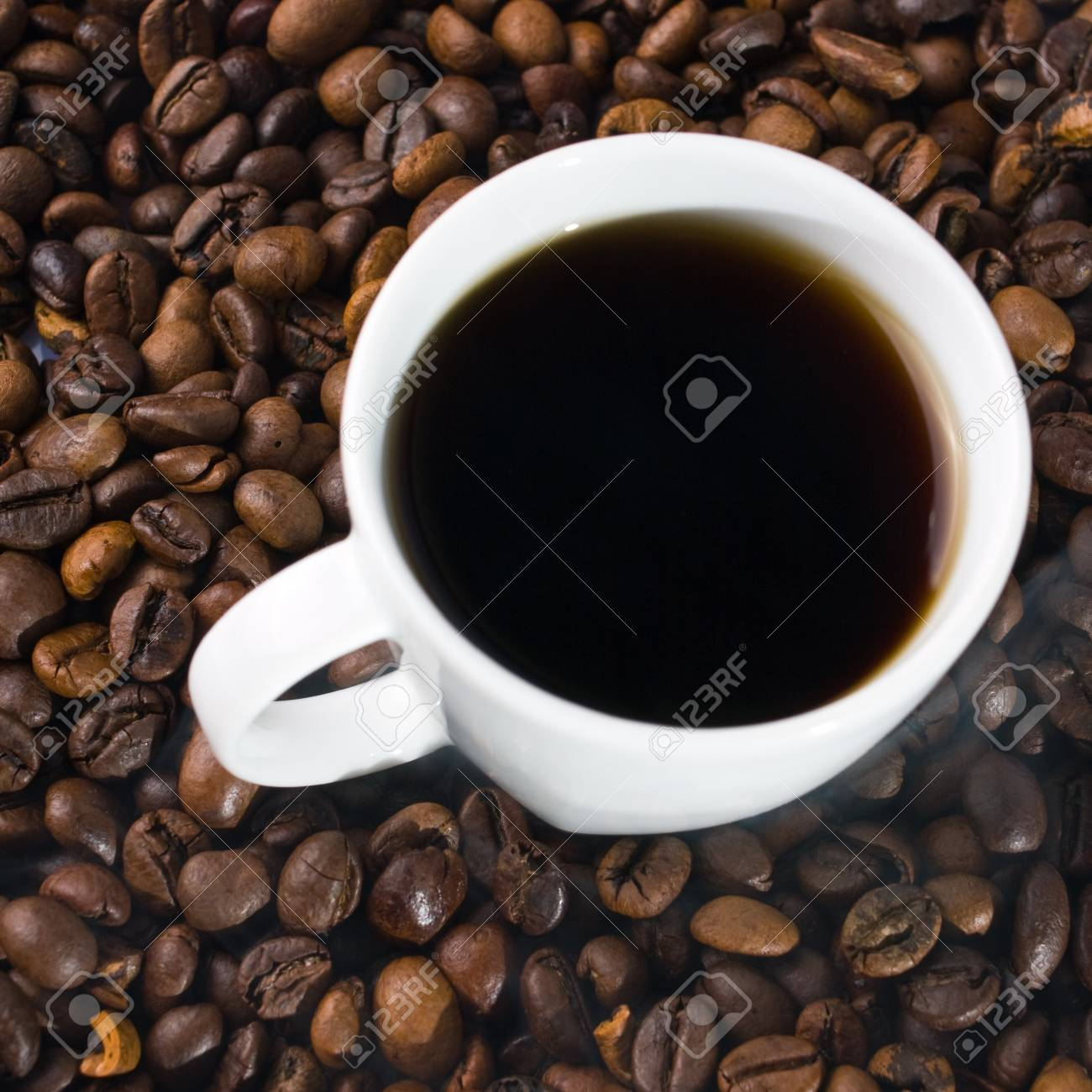 coffee cup on white background Stock Photo - 17535527