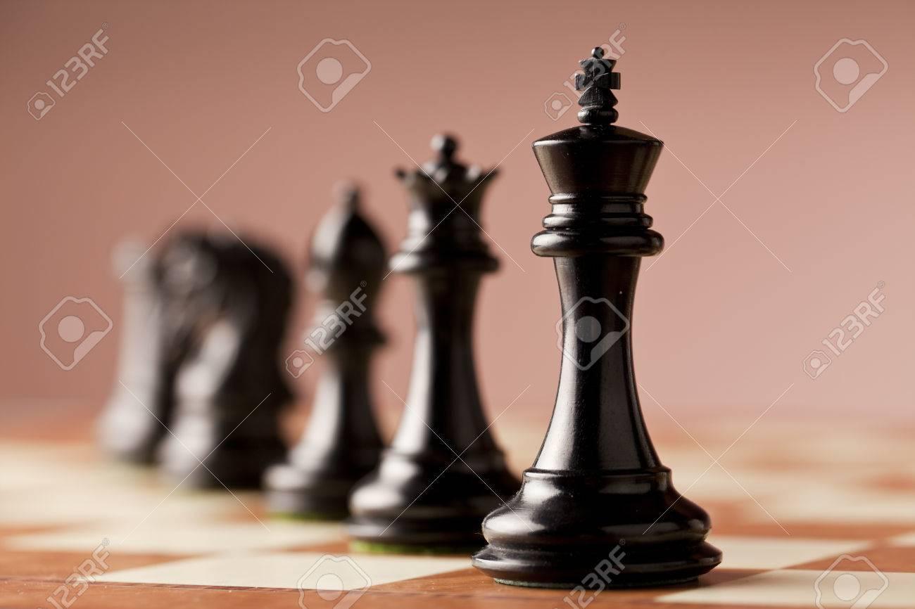 Ebony chess pieces