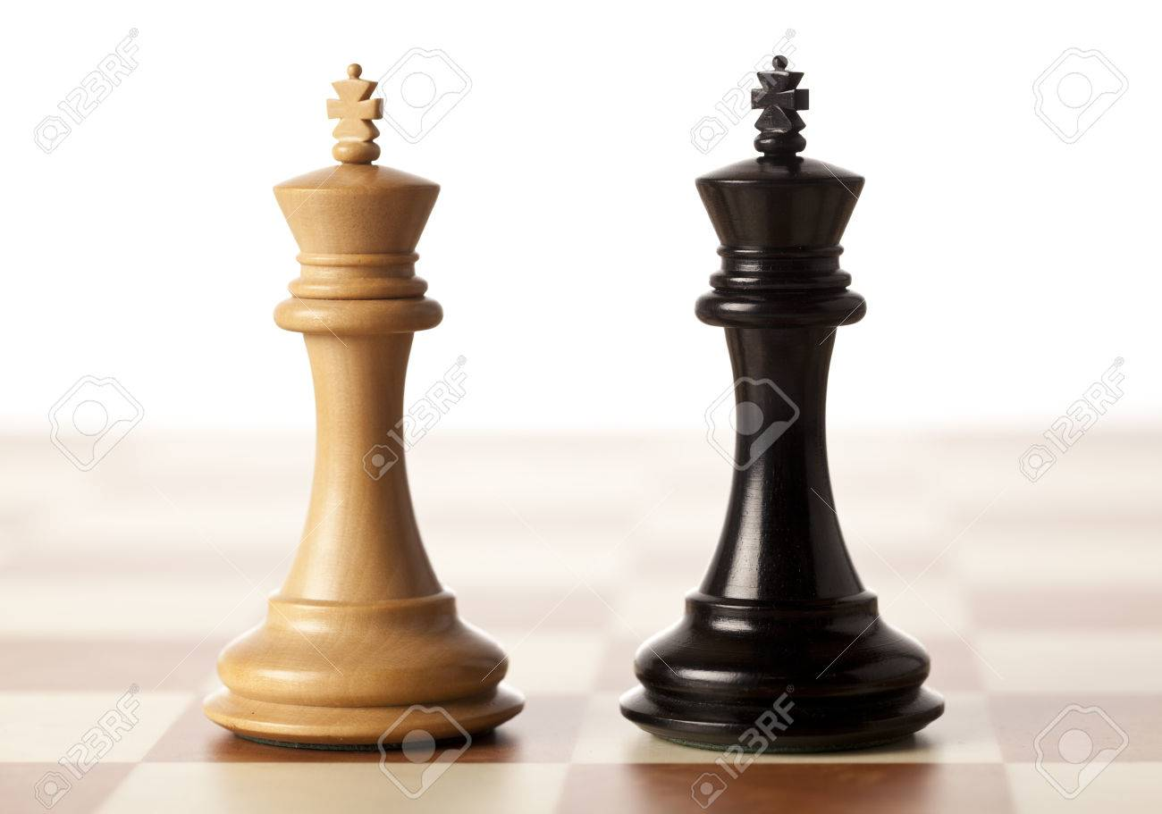 Impossible situation - two chess kings standing next to each other - 50130715